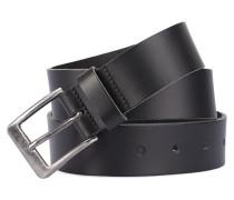 Schwarzer Ledergürtel El Jefe 4 cm
