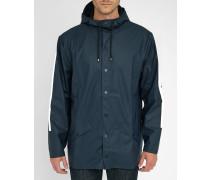 Regenmantel mit Kapuze in Marineblau mit weißen Stripes EXKLUSIVMODELL 5 JAHRE MENLOOK