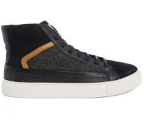 Hochschließende Sneaker aus zwei Materialien Flanell marineblau Pitbull