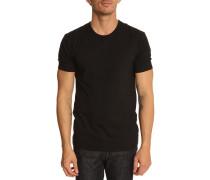 Schwarzes T-Shirt mit Rundhalsausschnitt (2er Pack)
