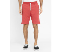 Rotmelierte Laufshorts Terry Loose