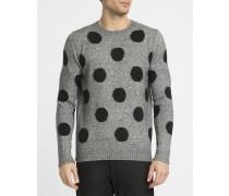Grau melierter Pullover Enoa Dots