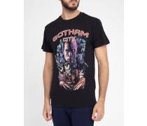 Schwarzes T-Shirt Gotham Print