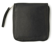 Square Wallet Geldbeutel schwarz (BLACK LEATHER)