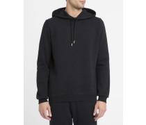 Schwarzer Kapuzensweater Bora