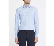 Himmelblaues Popeline-Hemd in Stretch