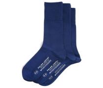 Dreierpack Socken aus Wolle Indigoblau AIRPORT