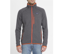 Grauer Fleecejacke Performance Better Sweater mit Kontrasten