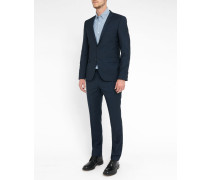 Blue Arthos Pr Micro-Houndstooth Extra Slim-Fit Suit
