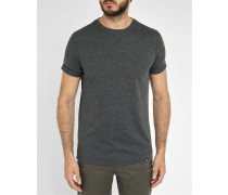 Graumeliertes T-shirt Tolga