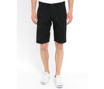 Schwarze Shorts Johnson weiße Dots Pr