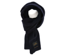 Gerippter blauer Schal aus Kaschmirwolle