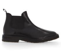 Schwarze Chelsea-Boots Idea mit Kreppsohle aus Leder