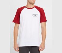 Raglan-T-Shirt in Rot und Weiß