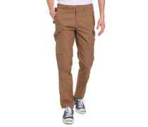 Cargohose Fitted Popeline Beige