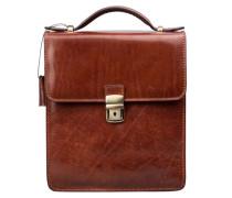 Herren Leder Handtasche in Braun