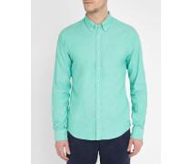 Wassergrünes Oxford-Hemd