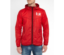 Rote Regenjacke Packable