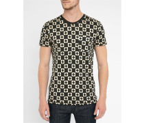 Ausgewaschen schwarzes T-Shirt Cross