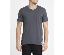 Anthrazitgraues T-Shirt Basic mit V-Ausschnitt