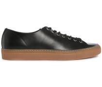 Schwarze Leder-Sneakers Tanino