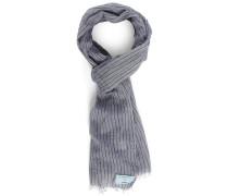 Denimblauer Schal mit schmalen schwarzen Streifen Cayson