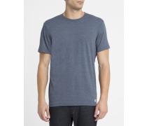 Blaues T-Shirt mit Rundhalsausschnitt Crew