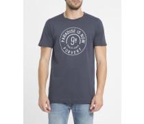 Marineblaues T-Shirt mit Rundhalsausschnitt und Druckmotiv Philipp