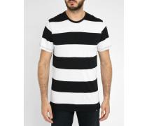 Gestreiftes T-shirt Terje weiß - schwarz