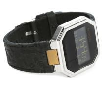 Uhr Re-Run Leather in Schwarz und Kupfer