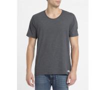 Anthrazitgraues T-Shirt Basic Open Neck Crew