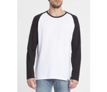 Weiß-schwarzes T-Shirt ML Louis