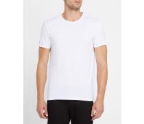 Weißes T-Shirt mit Rundhalsausschnitt und Rückenlogo AJ
