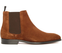 Tabakbraune Chelsea Boots Gerald aus Veloursleder