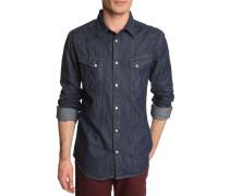 Jeanshemd blau, Used-Look Western