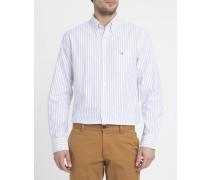 Weißes Oxfordhemd mit Streifen