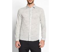 3504 Shirt In Striped Melange LookFabric