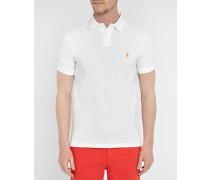 Weißes Poloshirt Slim Fit