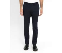 Marineblaue Slim-Chino-Hose aus Stretch-Baumwolle