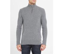 Grauer Troyer-Pullover aus Wolle