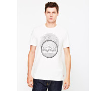 Commuter Drop Hem T-Shirt White