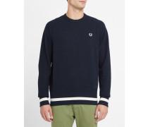Marineblaues Sweatshirt aus Baumwollpiqué