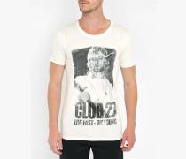 Weißes T-Shirt Print Pr