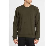 Sweatshirt mit Rundhalsausschnitt Destroy Khaki