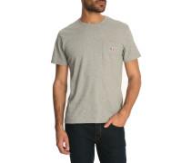 Graues T-Shirt Patch Pocket