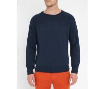 Blaues Sweatshirt mit Logo-Prägung