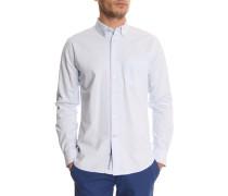 Einfarbig himmelblaues Oxford-Hemd
