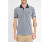 Oxford-Poloshirt aus blauem Piqué