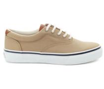 Sneakers aus Stoff und Leder beige Striper