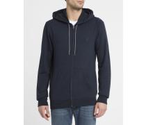 Blaues Kapuzen-Sweatshirt Cornell mit Reißverschluss